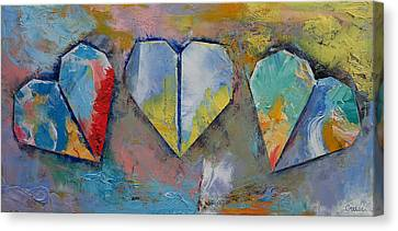 Hearts Canvas Print by Michael Creese