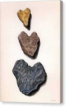 Hearts Rock Canvas Print