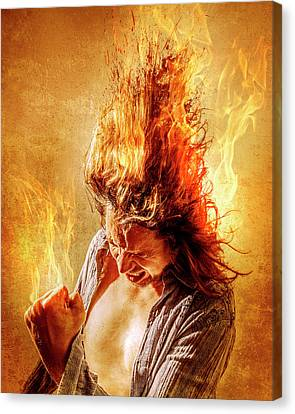 Heat Miser Canvas Print by Steve Augulis