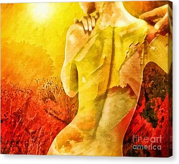 Heat Canvas Print by Mo T