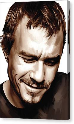 Heath Ledger Artwork Canvas Print by Sheraz A