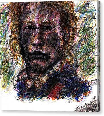 Heath Ledger As Gabriel Martin - The Patriot Canvas Print by Rachel Scott