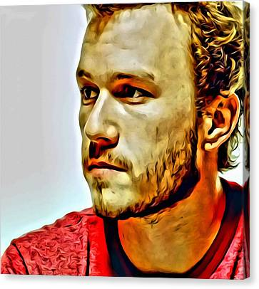 Heath Ledger Portrait Canvas Print by Florian Rodarte
