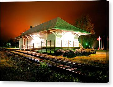 Heath Springs Depot Canvas Print by Joseph C Hinson Photography