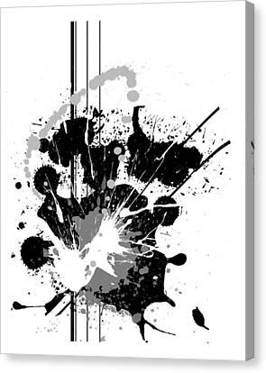 Graffiti Canvas Print - Heather by Melissa Smith