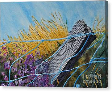 Heather On The Fence Canvas Print