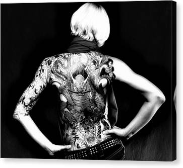 Heather The Tatooed Lady Canvas Print by Robert  FERD Frank