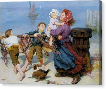 Heave Ho Canvas Print by Arthur John Elsley