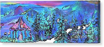 Heaven At Noon Canvas Print by Deborah Montana