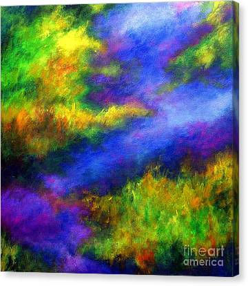 Canvas Print featuring the painting Heaven II by Alison Caltrider