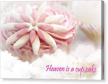 Heaven Is A Cupcake Canvas Print by Terri Waters