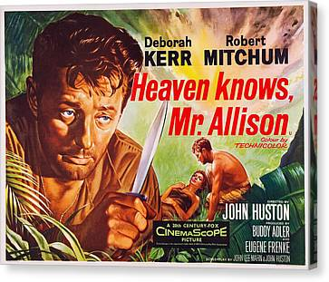 Heaven Knows, Mr. Allison, L-r Robert Canvas Print by Everett