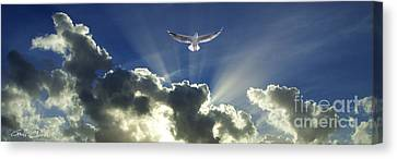 Heavenly Angel Rays - Cloudscape Canvas Print by Geoff Childs