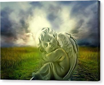 Heavenly Angels Vintage Cool Version Canvas Print by Georgiana Romanovna