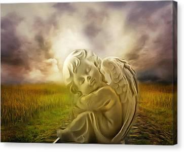 Heavenly Angels Vintage Canvas Print by Georgiana Romanovna