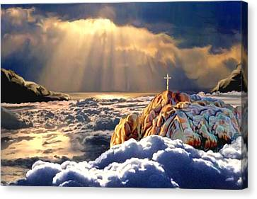 Heavenly Ascension Canvas Print by Ron Chambers