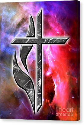 The Hatchery Canvas Print - Heavenly Cross by Phill Petrovic