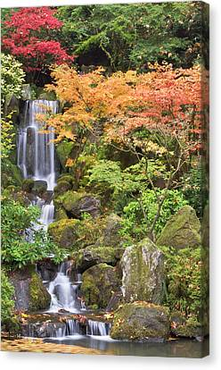 Heavenly Falls And Autumn Colors Canvas Print by William Sutton