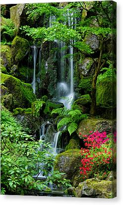 Heavenly Falls Serenity Canvas Print by Don Schwartz