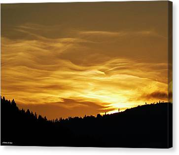 Heavenly Gold Sunset Canvas Print by Barbara St Jean