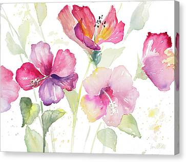 Heavenly Hibiscus Canvas Print by Lanie Loreth