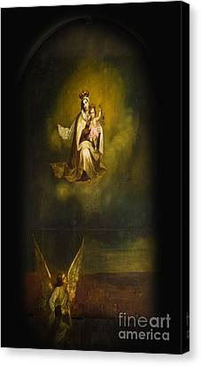 Heavenly Madonna And Child Canvas Print by Al Bourassa