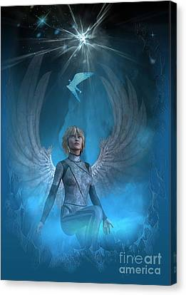 Heavenly Messenger Canvas Print by Shadowlea Is