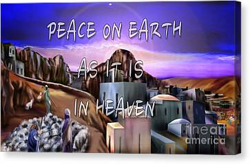 Heavenly Peace On Earth  Canvas Print by Reggie Duffie