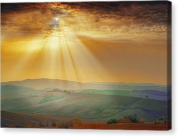 Heavenly Rays Canvas Print by Midori Chan