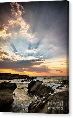 Canvas Print featuring the photograph Heavenly Skies by John Swartz