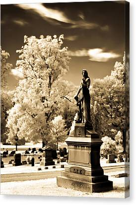 Canvas Print featuring the photograph Heavenly Statue by David Stine