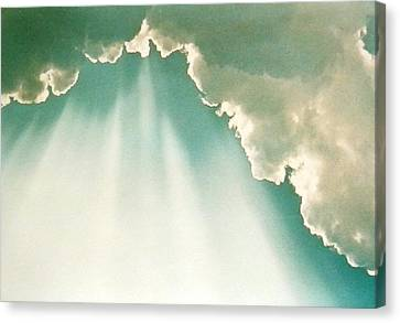 Heavenly Sunbeams Canvas Print