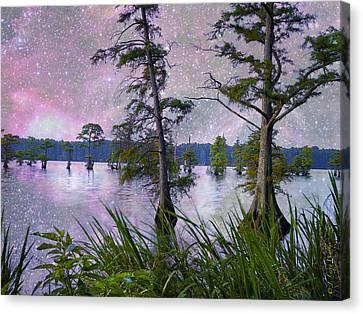 Heavenly Sunrise Canvas Print by J Larry Walker