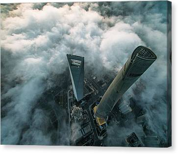 - Occupy Shanghai Canvas Print - Heavenly View Of Shanghai by Stan Huang
