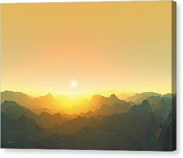 Heavens Breath 3 Canvas Print