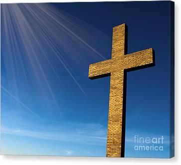 Heaven's Cross Canvas Print