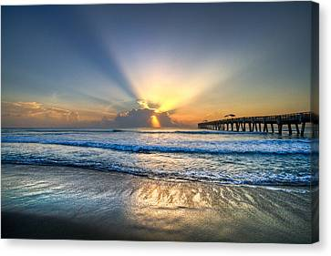 Tropical Sunset Canvas Print - Heaven's Door by Debra and Dave Vanderlaan