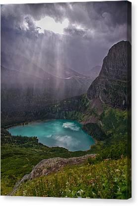 Heavens Open Canvas Print