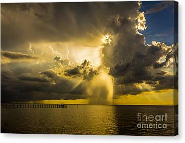 Shower Canvas Print - Heavens Window by Marvin Spates
