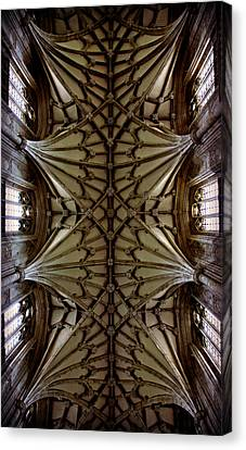 Heavenward -- Winchester Cathedral Ceiling Canvas Print by Stephen Stookey