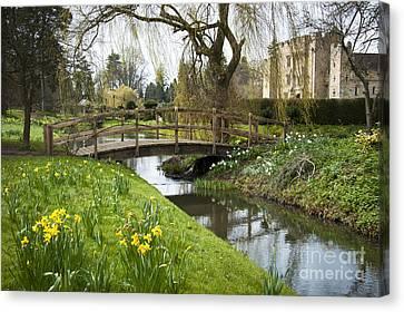 Heaver Castle In Spring Canvas Print by Donald Davis