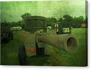 Heavy Artillery In World War 2 Canvas Print by Dan Sproul