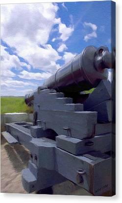 Heavy Artillery Canvas Print by Jeff Kolker