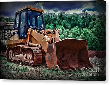 Heavy Construction Equipment - Bulldozer Canvas Print by Paul Ward