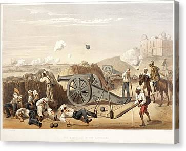 Heavy Day In The Batteries Canvas Print by British Library