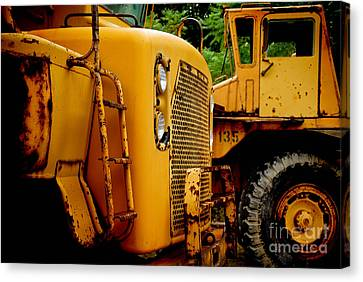 Heavy Equipment Canvas Print by Amy Cicconi