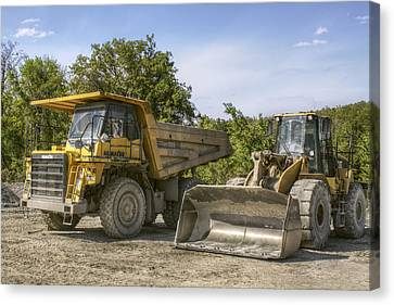 Heavy Equipment - Komatsu - Cat Canvas Print by Jason Politte