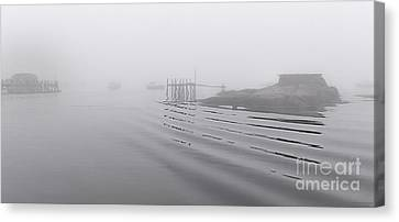 Canvas Print featuring the photograph Heavy Fog And Gentle Ripples by Marty Saccone