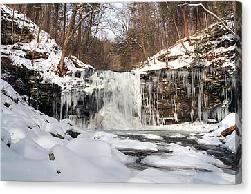 Heavy Ice At Harrison Wright Canvas Print