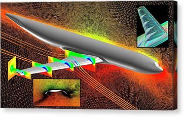 Heavy-lift Transport Aircraft Simulation Canvas Print